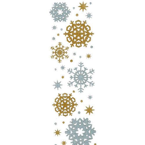 Martha Stewart Crafts - Holiday - Glitter Stickers - Snowflakes - Silver and Gold