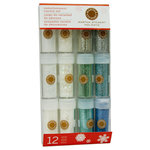 Martha Stewart Crafts - Holiday - Glitter Embellishment Variety - 12 Piece Set - Wintery, BRAND NEW