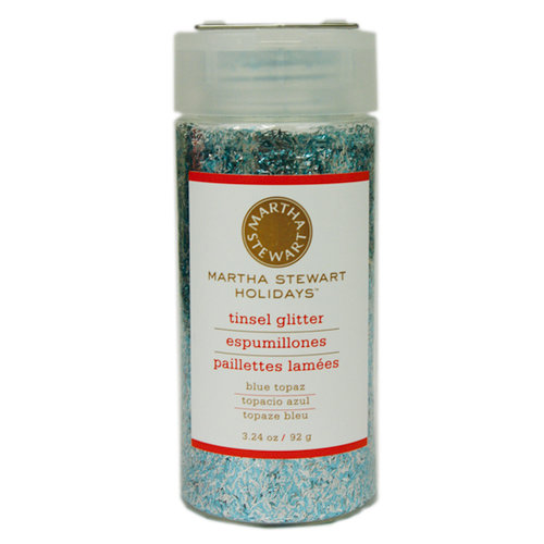 Martha Stewart Crafts - Holiday - Tinsel-Cut Glitter - Large Bottle - Blue Topaz