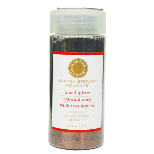 Martha Stewart Crafts - Holiday - Tinsel-Cut Glitter - Large Bottle - Brownstone