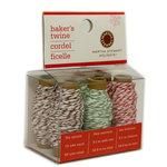 Martha Stewart Crafts - Holiday - Bakers Twine - Red White and Brown White, BRAND NEW
