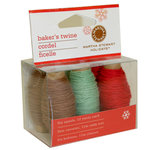 Martha Stewart Crafts - Holiday - Bakers Twine - Green Red White and Brown