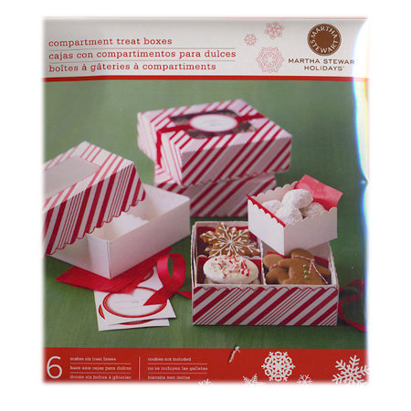 Martha Stewart Crafts - Holiday - Compartment Box with Window - Candy Cane, BRAND NEW