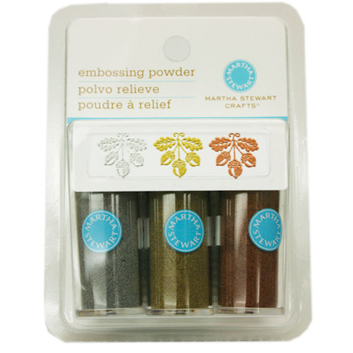 Martha Stewart Crafts - Embossing Powder - Metallic - 3 Piece Set