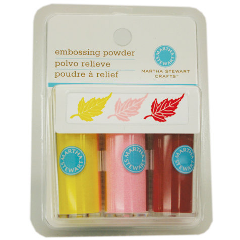 Martha Stewart Crafts - Embossing Powder - Pastel - 3 Piece Set