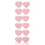 Martha Stewart Crafts - Valentine - Stickers - Lace Heart - Pink, CLEARANCE