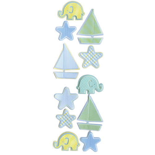 Martha Stewart Crafts - 3 Dimensional Pop-Up Stickers - Sailboat and Star, CLEARANCE