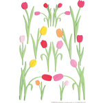Martha Stewart Crafts - Stickers - Tulip - Pink and Orange, CLEARANCE
