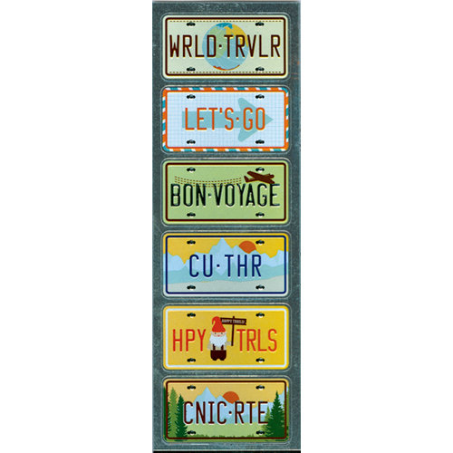 Martha Stewart Crafts - Embossed Stickers - License Plates
