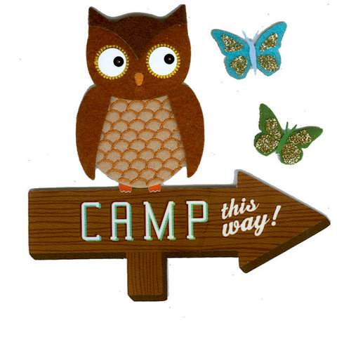 Martha Stewart Crafts - 3 Dimensional Stickers - Owl on a Sign Post