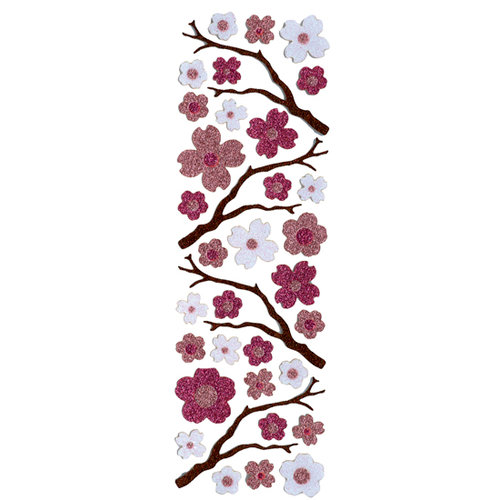 Martha Stewart Crafts - Glitter Stickers - Cherry Blossoms, CLEARANCE