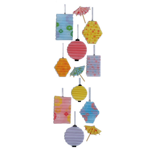 Martha Stewart Crafts - 3 Dimensional Stickers - Tropical Lanterns