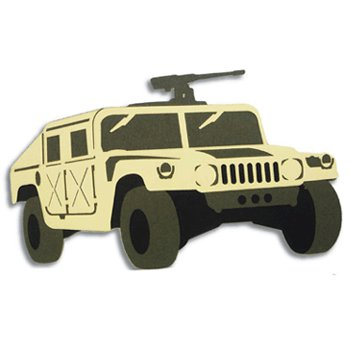 Memories In Uniform - Laser Cut - Army Marine Corps M-998 Humvee Tan, CLEARANCE