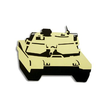 Memories In Uniform - Laser Cut - Army Marine Corps M-1 Abrams, CLEARANCE