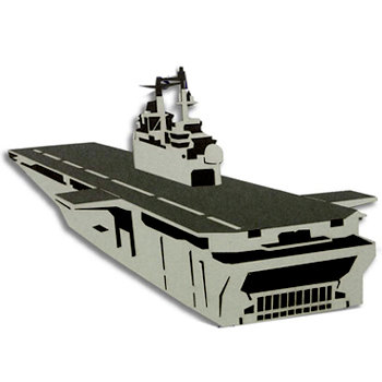 Memories In Uniform - Laser Cut - US Navy LHD Ship Wasp Class