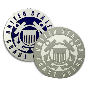 Memories In Uniform - Laser Cut - Coast Guard Service Emblem