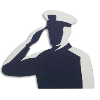 Memories In Uniform - Laser Cut - Coast Guard Hero Male
