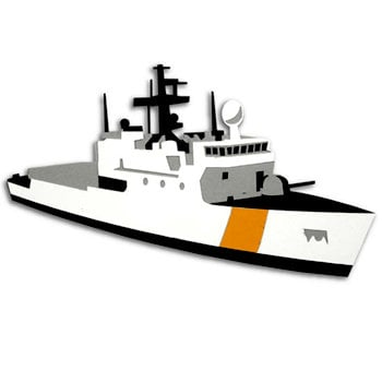 Memories In Uniform - Laser Cut - Coast Guard Medium Endurance Cutter