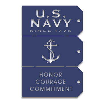 Memories In Uniform - Laser Cut - US Navy Tag Set