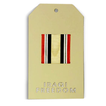 Memories In Uniform - Laser Cut - Iraqi Freedom Service Tag