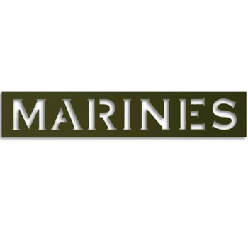 Memories In Uniform - Laser Cut - Marines Title