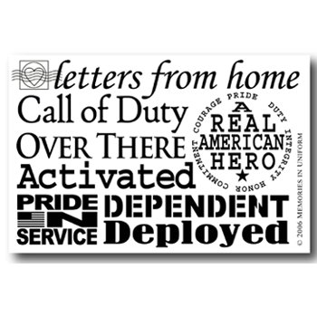 Memories In Uniform - Rub Ons - Letters from Home