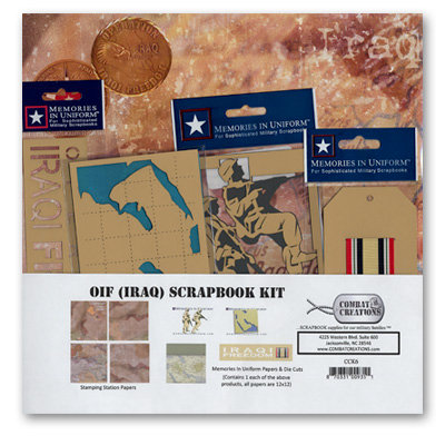 Combat Creations - Memories in Uniform - Scrapbook Kit - Operation Iraqi Freedom - Iraq