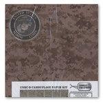 Combat Creations - Memories in Uniform - 12 x 12 Paper Kit - USMC-D Camouflage