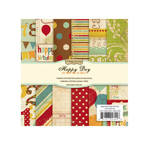 Memory Works - Simple Stories - Happy Day Collection - 6 x 6 Paper Pad