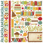 Memory Works - Simple Stories - Happy Day Collection - 12 x 12 Cardstock Stickers - Fundamentals