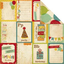 Memory Works - Simple Stories - Happy Day Collection - 12 x 12 Double Sided Paper - Flash Cards