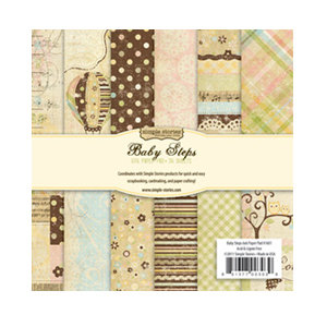 Memory Works - Simple Stories - Baby Steps Collection - 6 x 6 Paper Pad