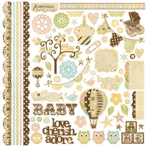 Memory Works - Simple Stories - Baby Steps Collection - 12 x 12 Cardstock Stickers - Fundamentals