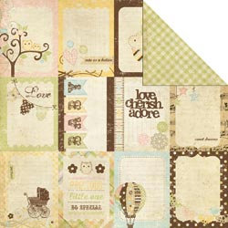 Memory Works - Simple Stories - Baby Steps Collection - 12 x 12 Double Sided Paper - Flash Cards