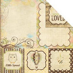 Simple Stories - Baby Steps Collection - 12 x 12 Double Sided Paper - Quote and Photo Mat Elements