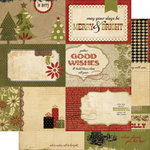 Memory Works - Simple Stories - 25 Days of Christmas Collection - 12 x 12 Double Sided Paper - Journaling Card Elements 2