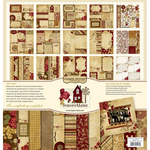 Memory Works - Simple Stories - Generations Collection - 12 x 12 Collection Kit