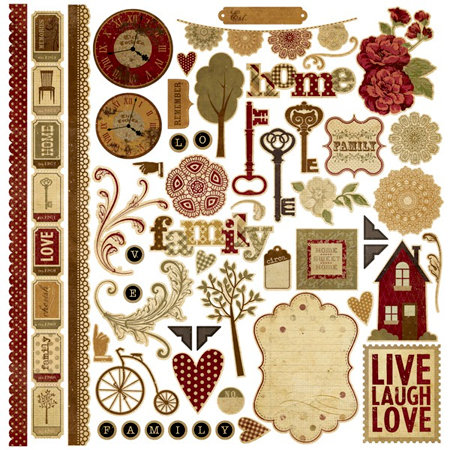 Memory Works - Simple Stories - Generations Collection - 12 x 12 Cardstock Stickers - Fundamentals