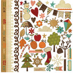 Simple Stories - Year-o-graphy Collection - 12 x 12 Cardstock Stickers - Fundamentals