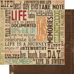 Memory Works - Simple Stories - Year-o-graphy Collection - 12 x 12 Double Sided Paper - Capture this Moment