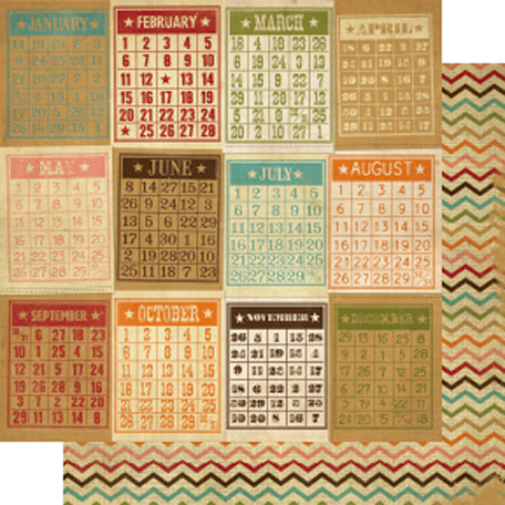 Memory Works - Simple Stories - Year-o-graphy Collection - 12 x 12 Double Sided Paper - Bingo Card