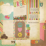 Simple Stories - Fab-U-lous Collection - 12 x 12 Double Sided Paper - Vertical Journaling Card Elements