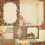 Simple Stories - Fab-U-lous Collection - 12 x 12 Double Sided Paper - Quote and Photo Mat Elements