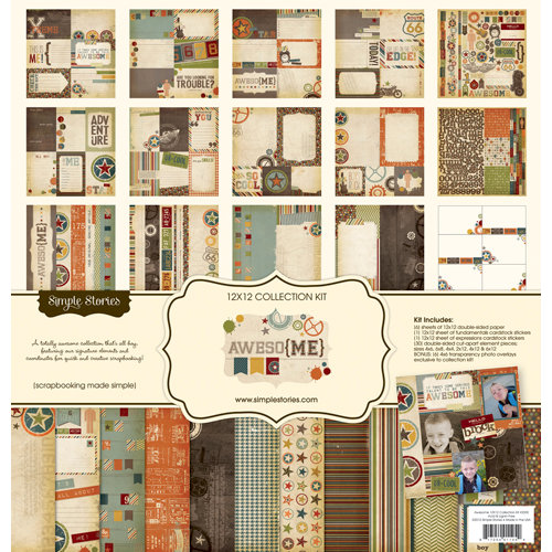 Simple Stories - Awesome Collection - 12 x 12 Collection Kit