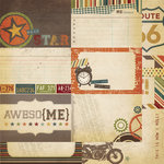 Simple Stories - Awesome Collection - 12 x 12 Double Sided Paper - Journaling Card Elements 2