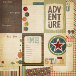 Simple Stories - Awesome Collection - 12 x 12 Double Sided Paper - Vertical Journaling Card Elements