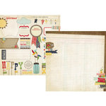 Simple Stories - Summer Fresh Collection - 12 x 12 Double Sided Paper - Bits of Summer