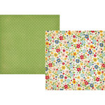 Simple Stories - Summer Fresh Collection - 12 x 12 Double Sided Paper - Country Garden