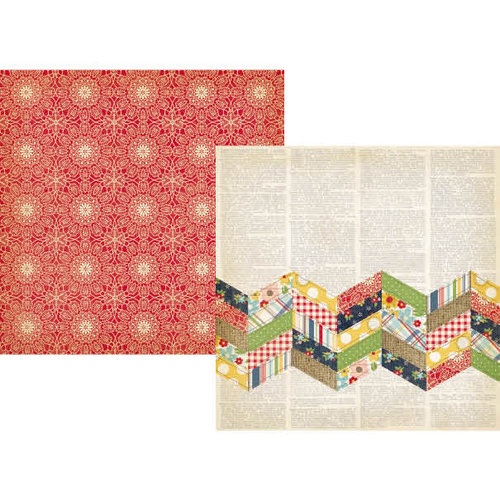 Simple Stories - Summer Fresh Collection - 12 x 12 Double Sided Paper - Summer Quilt