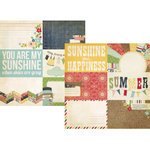 Simple Stories - Summer Fresh Collection - 12 x 12 Double Sided Paper - Journaling Card Elements 1